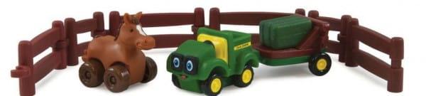 Купить Игровой набор Tomy Farm Приключения трактора Джонни и лошади на ферме в интернет магазине игрушек и детских товаров