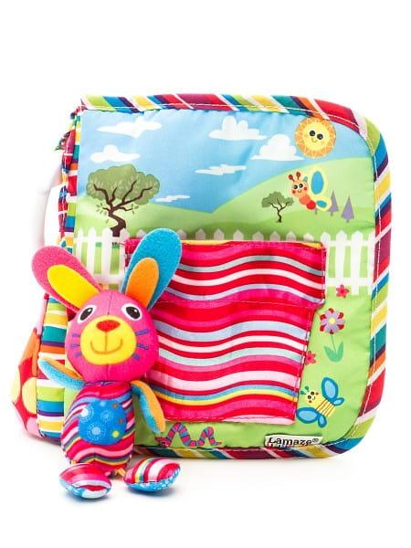 Книжка для малышей Tomy Lamaze Зайка Белла играет в прятки (с подвеской)