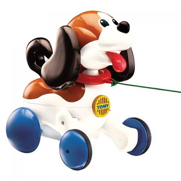 Каталка на веревочке Tomy E3862 Toys Веселый Щенок на прогулке
