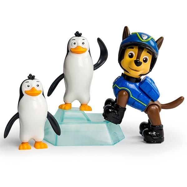 Игровой набор Paw Patrol Щенячий Патруль Фигурка спасателя с питомцем - Гонщик и пингвины