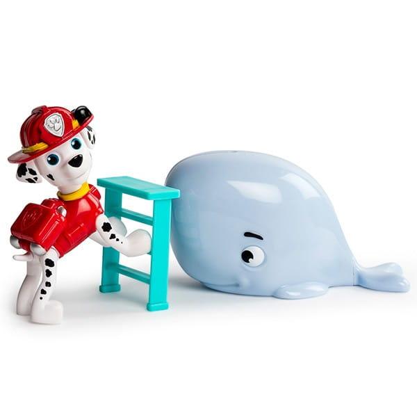 Игровой набор Paw Patrol Щенячий Патруль Фигурка спасателя с питомцем - Маршал и кит