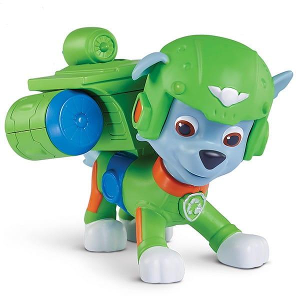 Игровой набор Paw Patrol Щенячий Патруль Фигурка спасателя со съемным рюкзаком Воздушные спасатели - Рокки