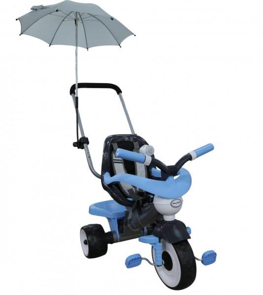 Детский велосипед Coloma Амиго №2 (с ограждением, клаксоном, ручкой, ремешком, мягким сиденьем и зонтиком)