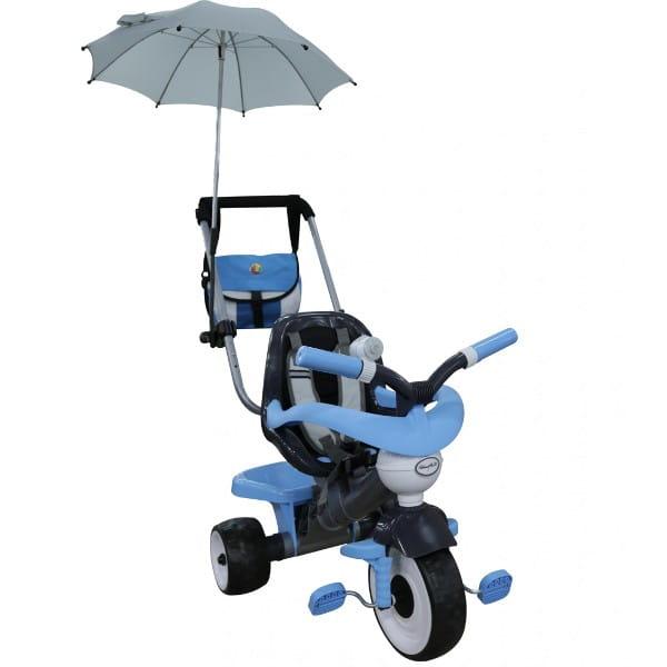 Купить Детский велосипед Coloma Амиго №2 (с ограждением, клаксоном, ручкой, ремешком, мягким сиденьем, сумкой и зонтиком) в интернет магазине игрушек и детских товаров