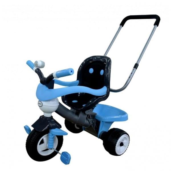 Детский велосипед Coloma Амиго №3 (с ограждением, клаксоном, ручкой и мягким сиденьем)