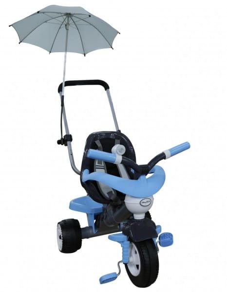 Купить Детский велосипед Coloma Амиго №3 (с ограждением, клаксоном, ручкой, ремешком, мягким сиденьем и зонтиком) в интернет магазине игрушек и детских товаров