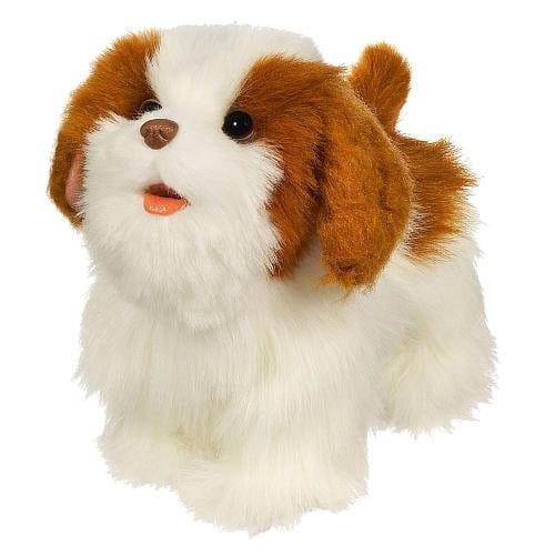 Купить Интерактивный ходячий щенок FurReal Friends - белый с рыжим (Hasbro) в интернет магазине игрушек и детских товаров