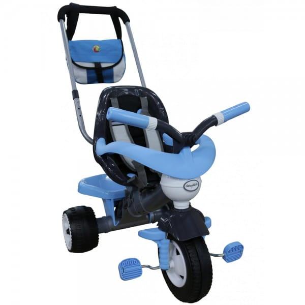 Купить Детский велосипед Coloma Амиго №3 (с ограждением, ручкой, ремешком, мягким сиденьем и сумкой) в интернет магазине игрушек и детских товаров