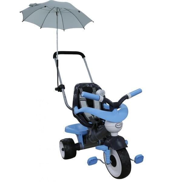 Детский велосипед Coloma Амиго (с ограждением, клаксоном, ручкой, ремешком и мягким сиденьем)