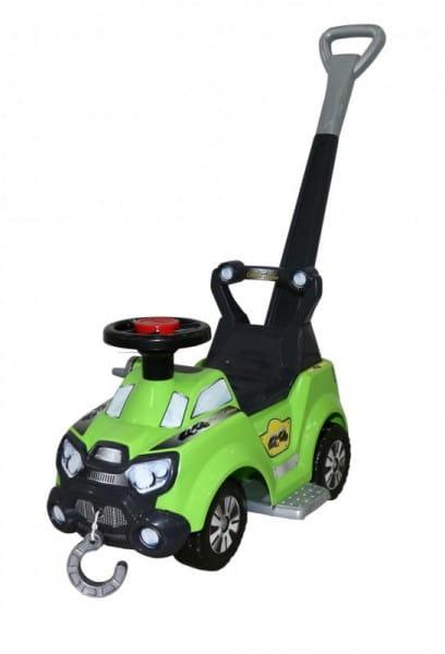 Каталка-автомобиль Molto Sokol (с ручкой и подножкой)