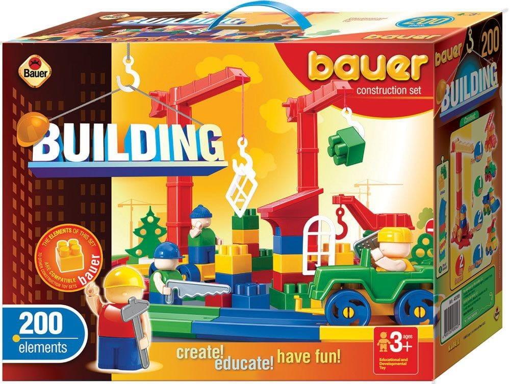 Конструктор Bauer 203b Стройка - 200 деталей (в коробке)