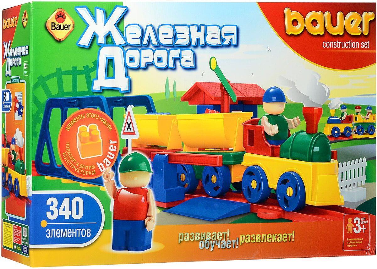 Конструктор Bauer 257b Железная дорога - 340 деталей (в коробке)