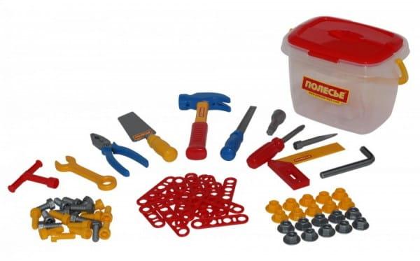 Набор инструментов Полесье 1 в ведерке - 72 элемента