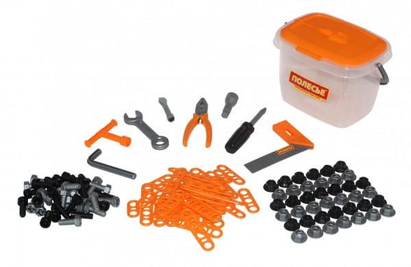 Набор инструментов Полесье 47168_PLS 2 в ведерке - 129 элементов