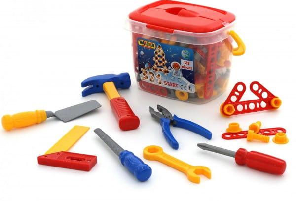 Купить Набор инструментов Polesie 3 в ведерке - 132 элемента в интернет магазине игрушек и детских товаров
