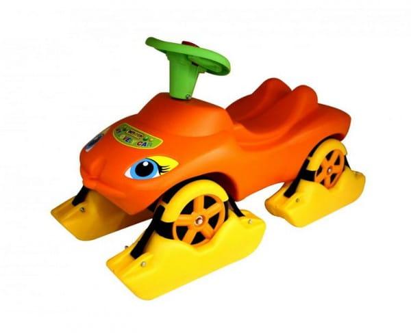 Каталка Wader Мой любимый автомобиль - оранжевая