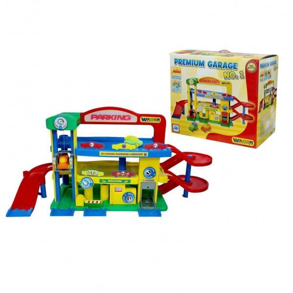 Купить Игровой набор Wader Гараж-премиум с автомобилями в интернет магазине игрушек и детских товаров