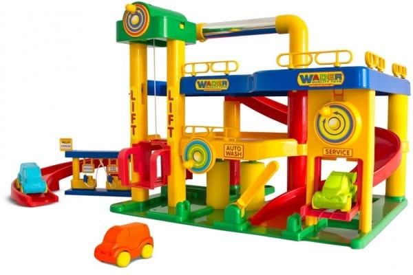 Купить Игровой набор Wader Гараж с автомобилями в интернет магазине игрушек и детских товаров