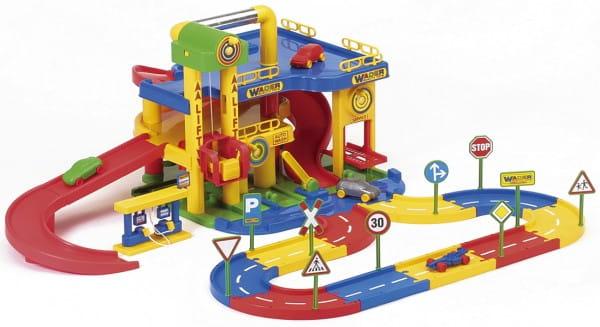 Купить Игровой набор Wader Гараж с дорогой в интернет магазине игрушек и детских товаров