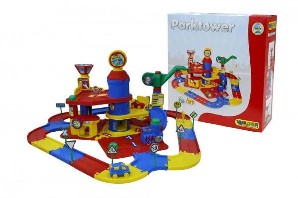 Купить Игровой набор Wader Паркинг с дорогой и автомобилями (3 уровня) в интернет магазине игрушек и детских товаров