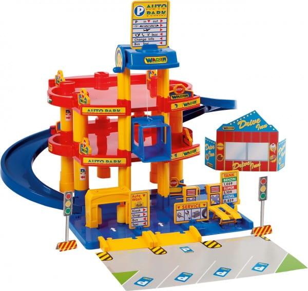 Купить Игровой набор Wader Паркинг с автомобилями (3 уровня) в интернет магазине игрушек и детских товаров