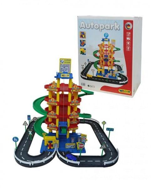 Купить Игровой набор Wader Паркинг с дорогой и автомобилями (5 уровней) в интернет магазине игрушек и детских товаров