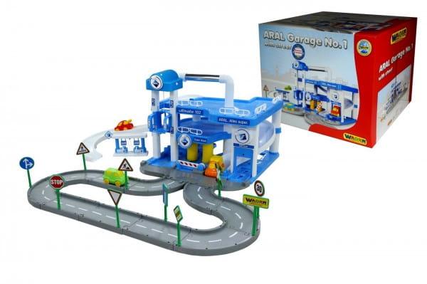Купить Игровой набор Wader Паркинг Aral с дорогой и подъемником (3 уровня) в интернет магазине игрушек и детских товаров
