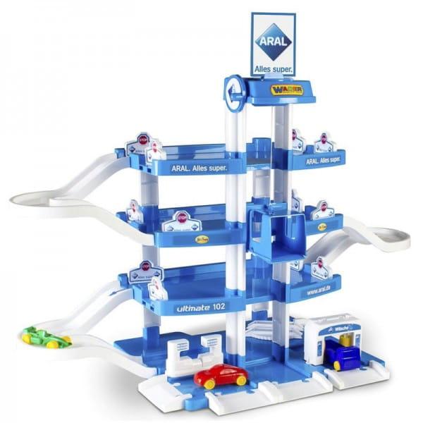 Купить Игровой набор Wader Паркинг Aral-2 с автомобилями (4 уровня) в интернет магазине игрушек и детских товаров