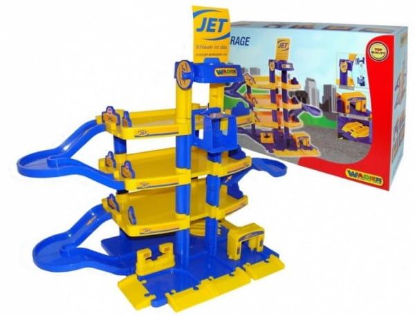Игровой набор Wader 40213_PLS Паркинг Jet (4 уровня)