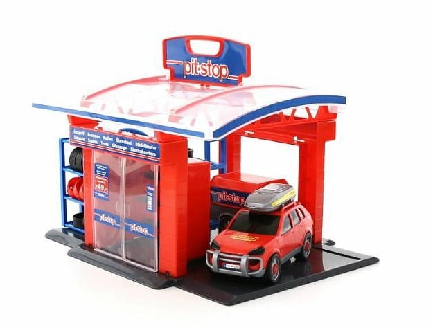 Игровой набор WADER Тюнинг-центр Pit-Stop (в пакете)