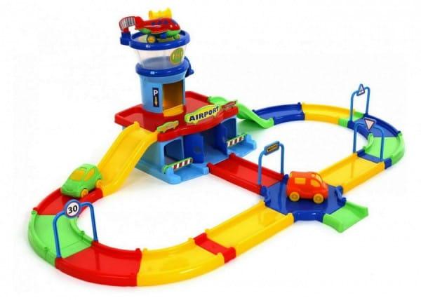 Игровой набор Wader Аэропорт Play City с дорогой