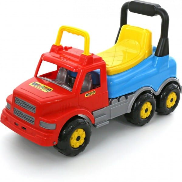 Каталка-автомобиль Wader 43801_PLS Буран - красно-голубая
