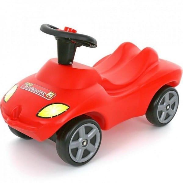 Каталка-автомобиль Wader Пожарная команда (со звуковым сигналом)