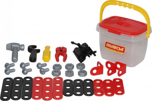 Игровой набор Palau Toys Механик в ведерке - 32 элемента