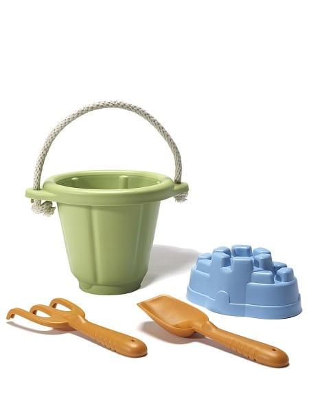 Купить Игровой набор Green Toys для песочницы - зеленый в интернет магазине игрушек и детских товаров