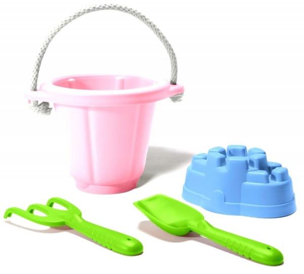 Купить Игровой набор Green Toys для песочницы - розовый в интернет магазине игрушек и детских товаров