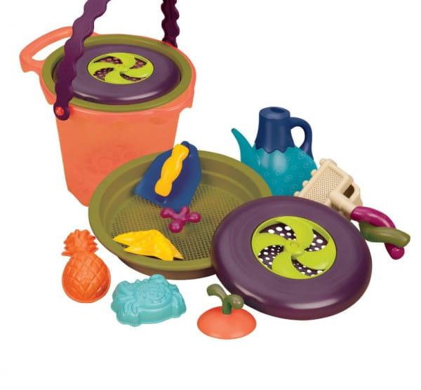 Купить Игровой набор B Summer Большое ведерко с аксессуарами в интернет магазине игрушек и детских товаров