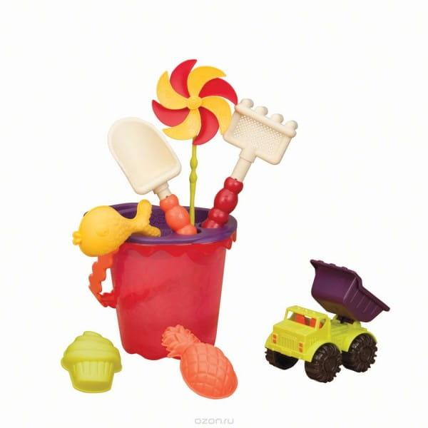 Купить Игровой набор B Summer Малое ведерко с аксессуарами - красный в интернет магазине игрушек и детских товаров