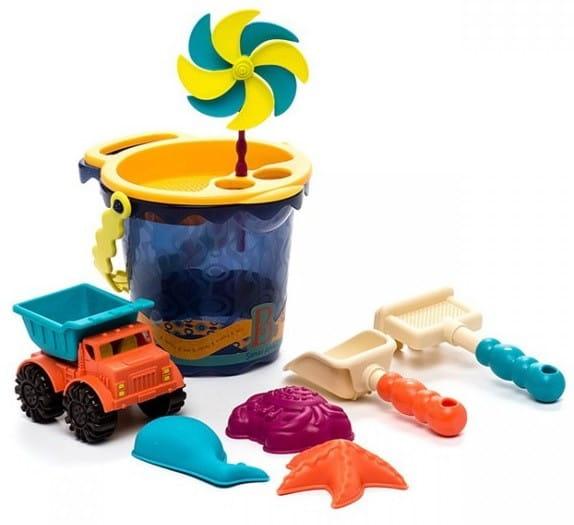 Купить Игровой набор B Summer Малое ведерко с аксессуарами - синий в интернет магазине игрушек и детских товаров