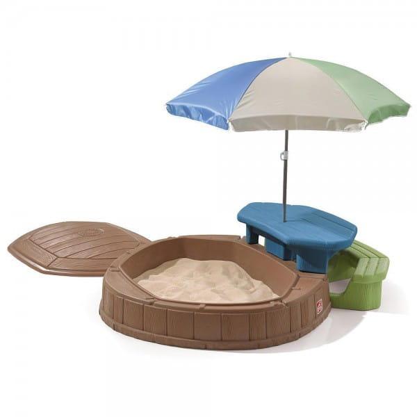 Песочница со столиком Step2