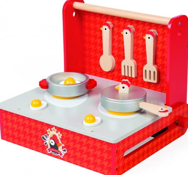 Детская переносная кухня-чемоданчик Janod Курочка