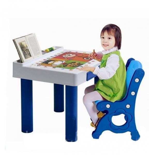 Набор мебели Haenim Toy Парта с белой столешницей (один стул)