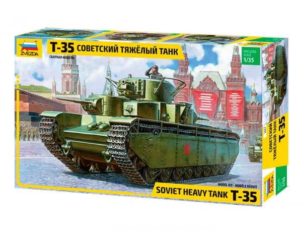 Сборная модель Звезда 3667з Советский танк Т-35