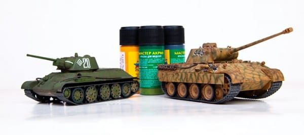 Сборная модель Звезда Т-34/76 против Пантеры