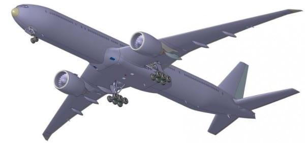 Сборная модель Звезда Пассажирский авиалайнер Боинг-777-300ER