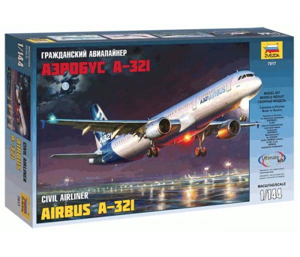 Сборная модель Звезда Самолет Аэробус А-321