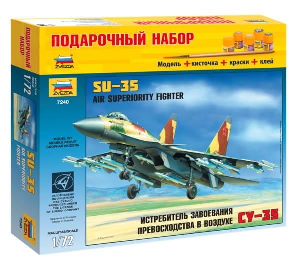 Подарочный набор Звезда 7240П Самолет СУ-35