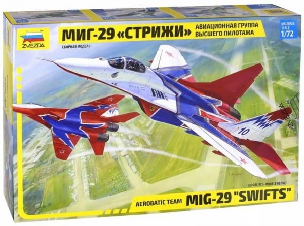 Сборная модель Звезда Самолет МиГ-29 (авиагруппа Стрижи)