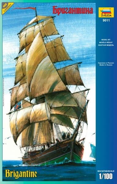 Купить Сборная модель Звезда Корабль Бригантина в интернет магазине игрушек и детских товаров