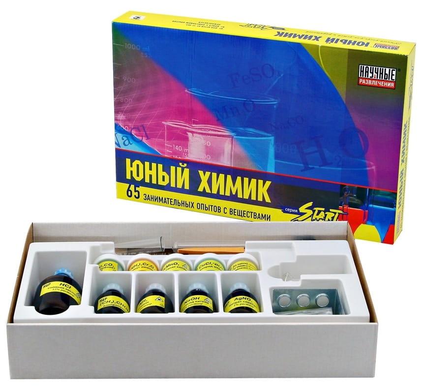 Набор для опытов Научные развлечения НР00002 Юный химик (145 опытов)